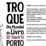"""""""Troque o seu livro por outro livro e renove a sua colecção"""" é a actividade proposta nas Bibliotecas Municipais do Porto"""