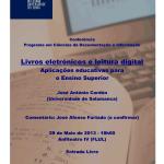 Conferência de José Antonio Cordón sobre  o impacto dos livros eletrónicos nas universidades