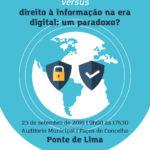 """Ponte de Lima acolhe jornada sobre """"Proteção e segurança de dados versus direito à informação na era digital: um paradoxo?"""""""