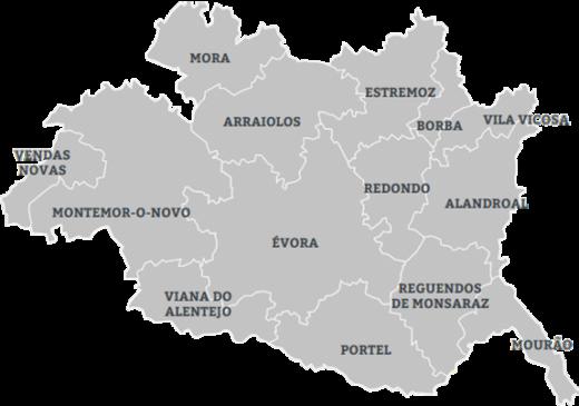 mapa alentejo central Grupo de Trabalho das Bibliotecas Públicas do Alentejo Central  mapa alentejo central