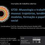 """GT 20 do III SEBRAMUS: """"Museologia e trabalho em museus: trajetórias, tendências, modelos, formação e papel social"""""""
