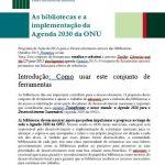 """Tradução portuguesa """"As bibliotecas e a implementação da Agenda 2030 da ONU"""""""