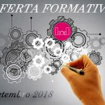 Oferta formativa da BAD em setembro de 2018