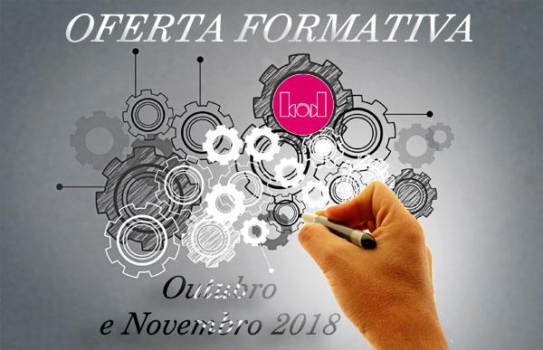 Oferta formativa da BAD em outubro e novembro de 2018